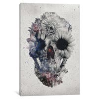 iCanvas Floral Skull #2 by Ali Gulec Canvas Print