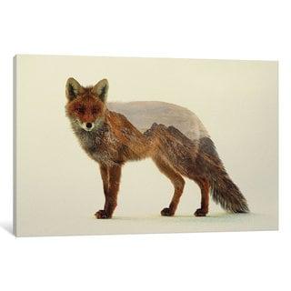 iCanvas Mountain Fox by Andreas Lie Canvas Print