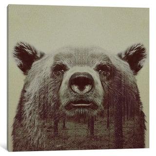 iCanvas Bear II by Andreas Lie Canvas Print