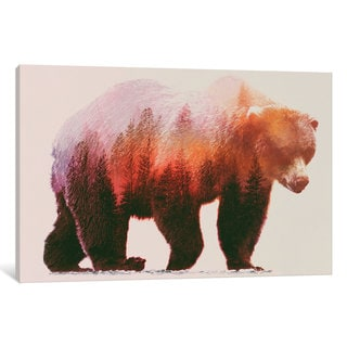 iCanvas Brown Bear by Andreas Lie Canvas Print