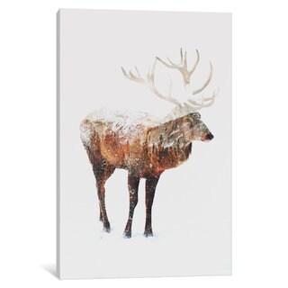 iCanvas Deer V by Andreas Lie Canvas Print