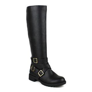 Mark and Maddux women's Travis-11 Multi Buckle Women's Riding Boot