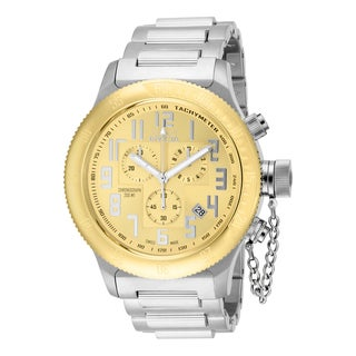Invicta Men's 15554 Russian Diver Quartz Chronograph Gold Dial Watch