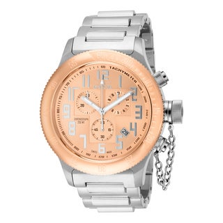 Invicta Men's 15557 Russian Diver Quartz Chronograph Rose Gold Dial Watch