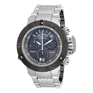 Invicta Men's 17619 Subaqua Quartz Multifunction Gunmetal Dial Watch