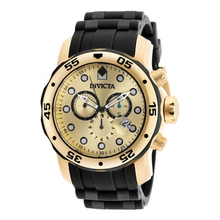 Invicta Men's 18040 Pro Diver Quartz Chronograph Gold Dial Watch