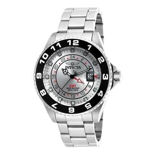 Invicta Men's 18239 Pro Diver Quartz 3 Hand Silver Dial Watch