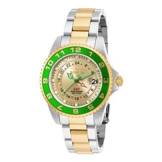 Invicta Women's 18253 Pro Diver Quartz 3 Hand Gold Dial Watch