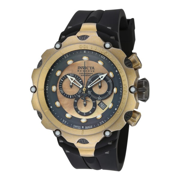 bd2aba258 Shop Invicta Men's 18452 Venom Quartz Chronograph Grey, Gold Dial Watch -  Free Shipping Today - Overstock - 10631150