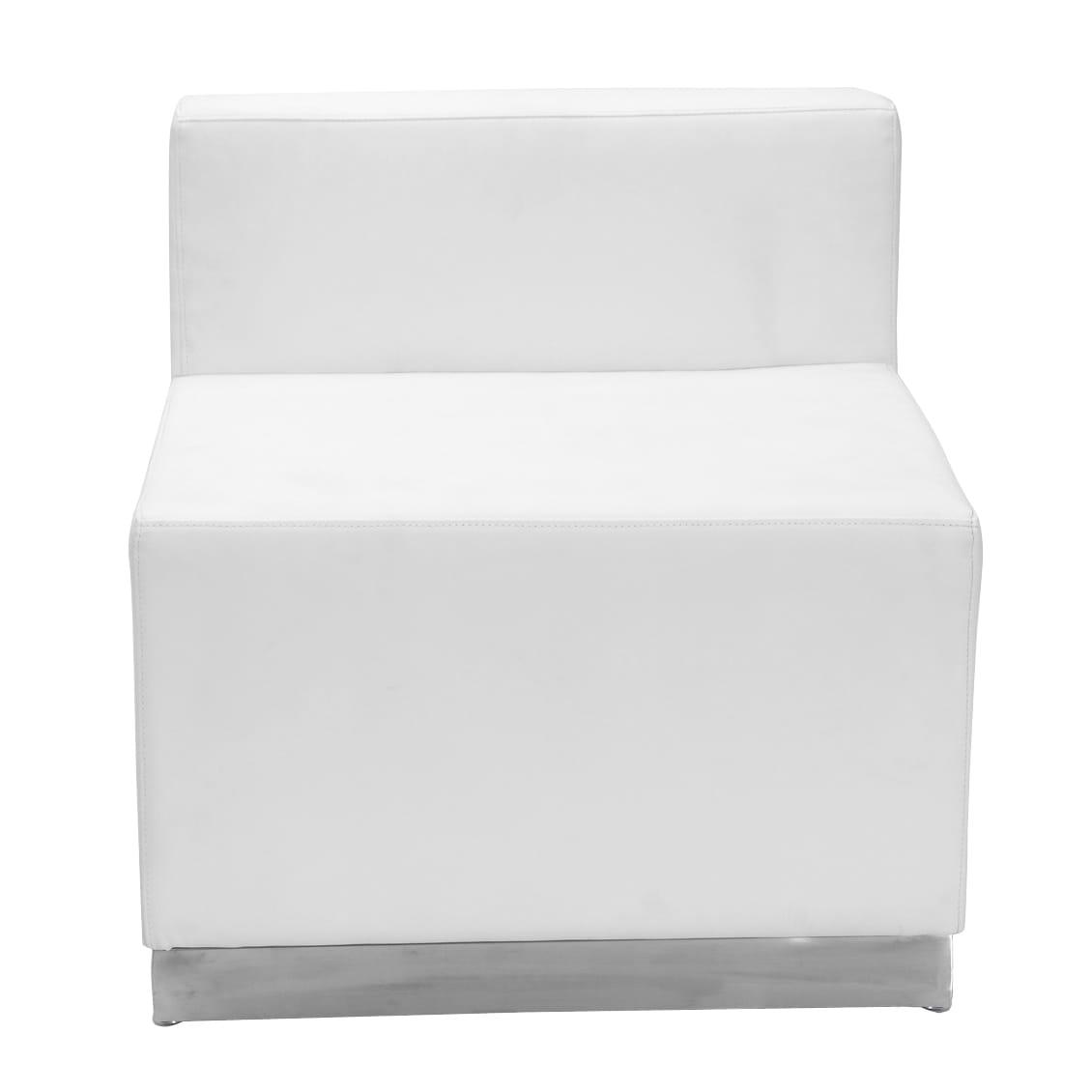 FLASH Furniture Alon Series Modular Leather Chair (White)
