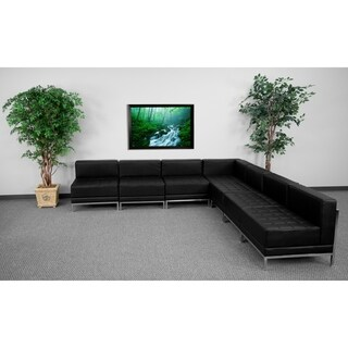 Hercules Imagination Series Black Leather 7-piece Sectional Configuration