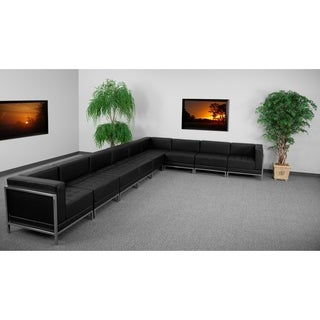 Hercules Imagination Series 9-piece Leather Sectional Configuration