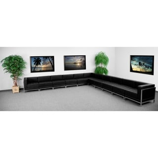 Hercules Imagination Series Black Leather 11-piece Sectional Configuration