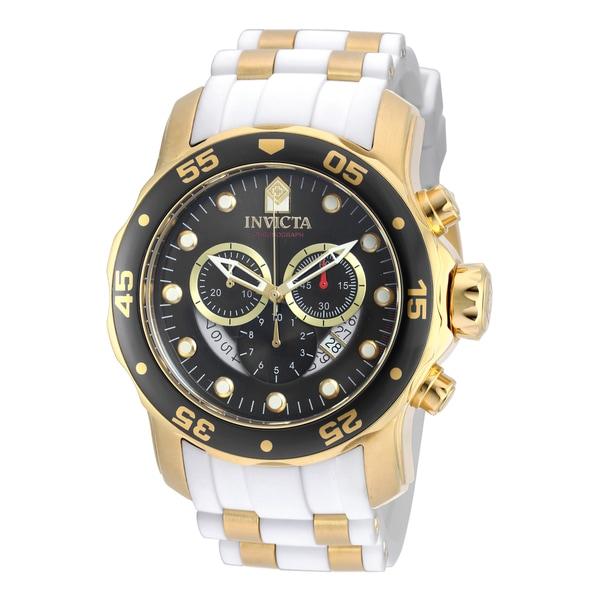 7b7f099b2 Shop Invicta Men's 20289 Pro Diver Quartz Chronograph Platinum Dial Watch -  Free Shipping Today - Overstock.com - 10631272