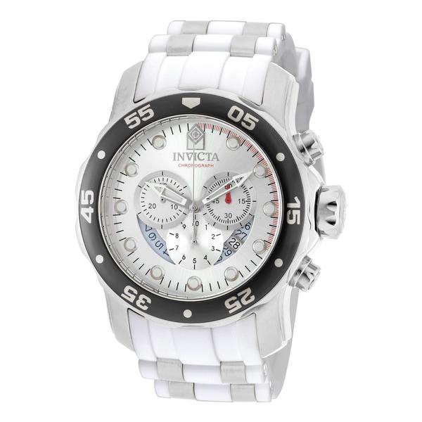 Invicta Men's 20290 Pro Diver Quartz Chronograph Silver Dial Watch