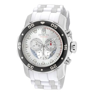 Invicta Men's 20290 Pro Diver Quartz Chronograph Silver Dial Watch