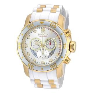 Invicta Men's 20291 Pro Diver Quartz Chronograph Silver Dial Watch