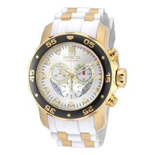 Invicta Men's 20292 Pro Diver Quartz Chronograph Silver Dial Watch