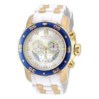 Invicta Men's 20293 Pro Diver Quartz Chronograph Silver Dial Watch
