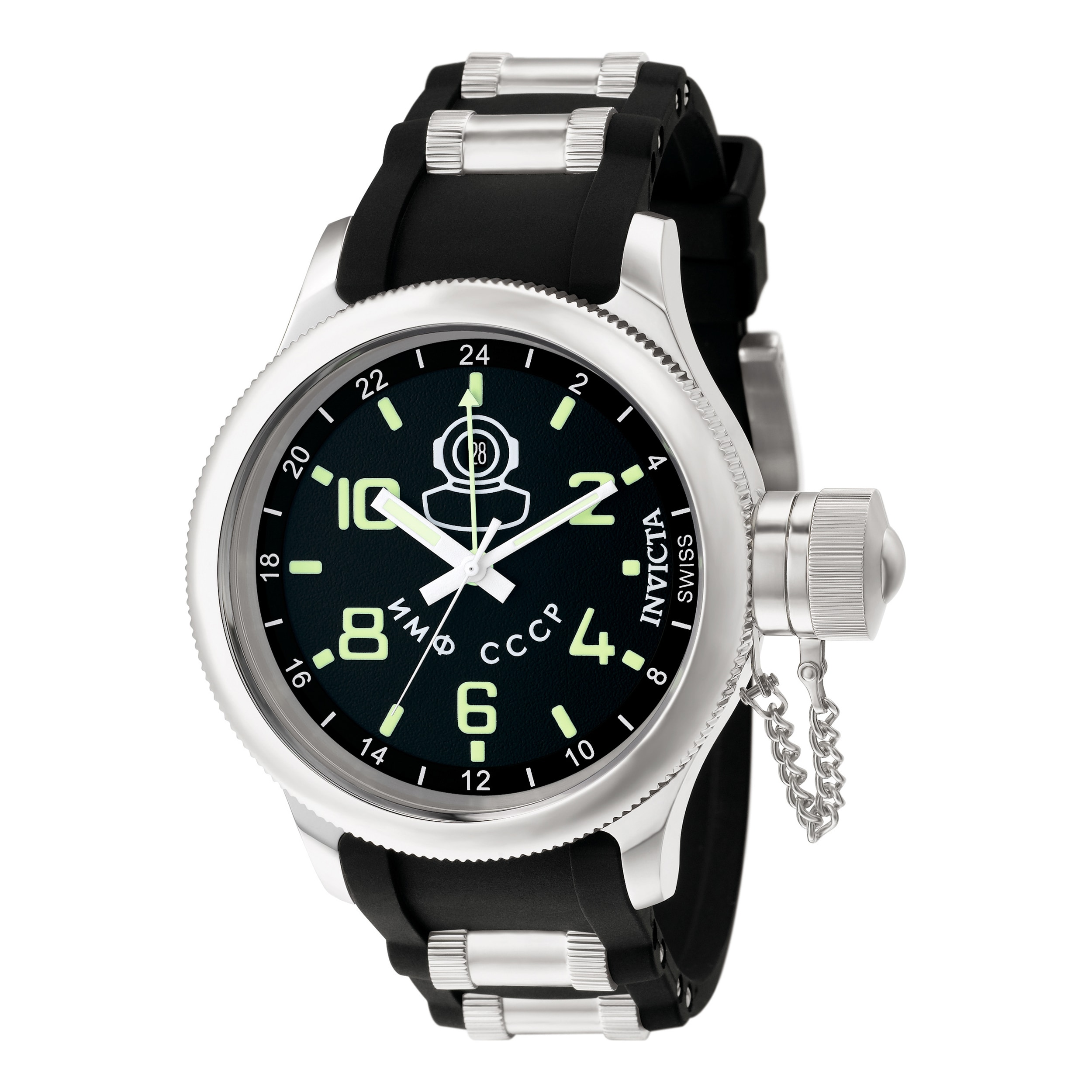 Invicta Men's 7238 Russian Diver Quartz Gmt Black Dial Wa...