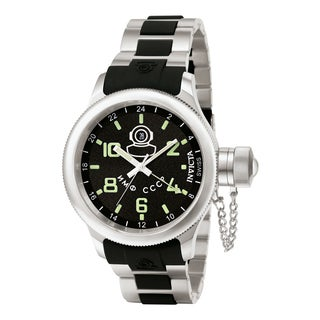 Invicta Men's 7241 Russian Diver Quartz Gmt Black Dial Watch