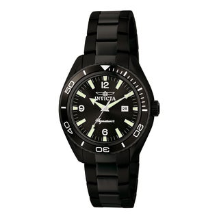 Invicta Men's 7320 Signature Quartz 3 Hand Black Dial Watch