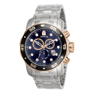 Invicta Men's 80038 Pro Diver Quartz Chronograph Blue Dial Watch