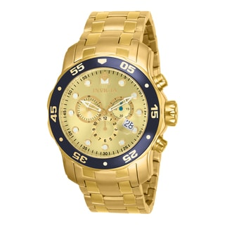 Invicta Men's 80068 Pro Diver Quartz 3 Hand Champagne Dial Watch
