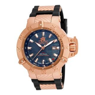 Invicta Men's 80428 Subaqua Quartz 3 Hand Black Dial Watch