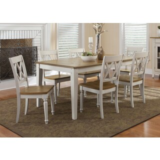 Fresco Two-Tone Transitional Dinette Table - Antique White