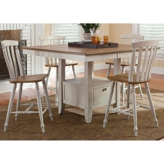 Fresco Two-Tone Transitional Slat Back 24 Inch Barstool