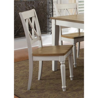 Fresco Two-Tone Transitional Double x Back Dining Chair