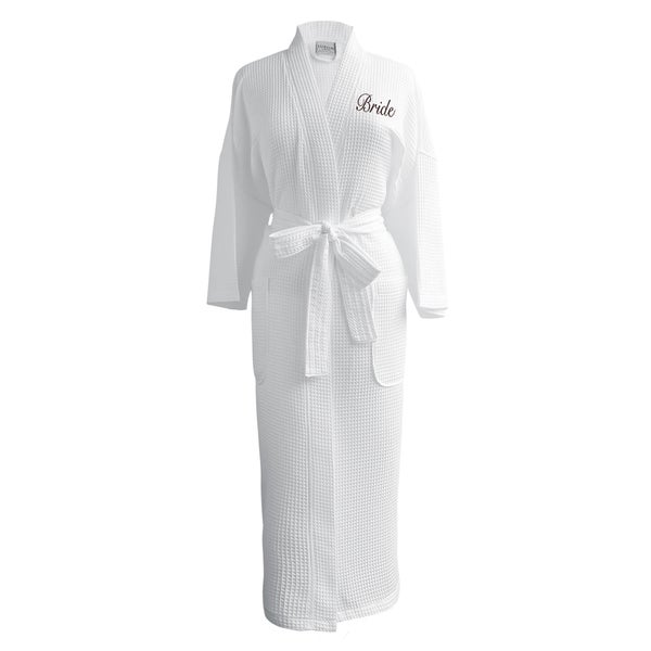 c46d0b0949 Shop Conrad Egyptian Cotton Bride Waffle Spa Robe - Free Shipping ...
