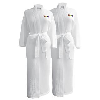 Conrad Egyptian Cotton LGBT Pride Waffle Spa Robe - Flag (Set of Two; Female)