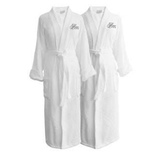 Wyndham Egyptian Cotton Hers & Hers Terry Spa Robe Set