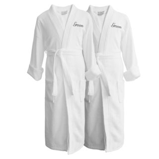 Wyndham Egyptian Cotton Groom & Groom Terry Spa Robe Set