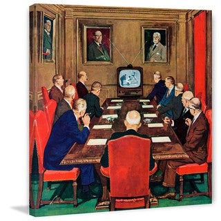 Marmont Hill - Baseball in the Boardroom by Lonie Bee Painting Print on Canvas