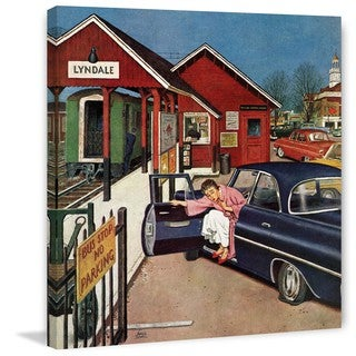 Marmont Hill - Flat Tire at the Commuter Station by Amos Sewell Painting Print on Canvas