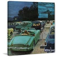 """Marmont Hill - """"Drive-In Movies"""" by George Hughes Painting Print on Canvas - Multi-color"""