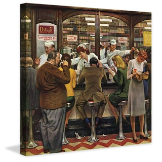 Marmont Hill - Lunch Counter by John Falter Painting Print on Canvas