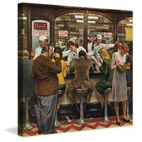Marmont Hill - Lunch Counter by John Falter Painting Print on Canvas - Multi-color