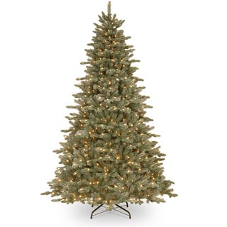 7.5 ft. Frosted Dover Blue Blue Spruce Tree with Clear Lights