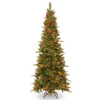 7 ft. Colonial Slim Tree with Multicolor Lights