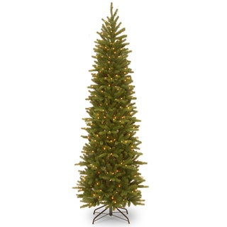 7.5 ft. Grand Fir Pencil Slim Tree with Clear Lights