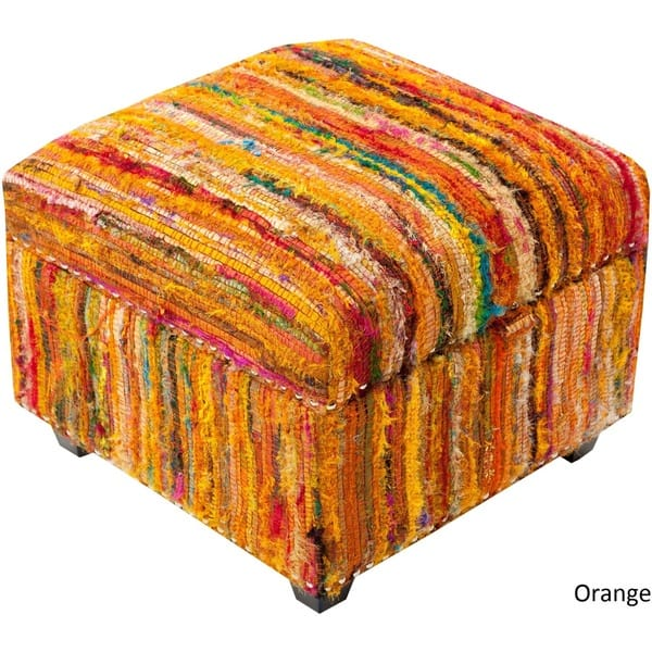 Miraculous Shop Concord Striped Storage Ottoman 19 X 19 X 14 On Dailytribune Chair Design For Home Dailytribuneorg