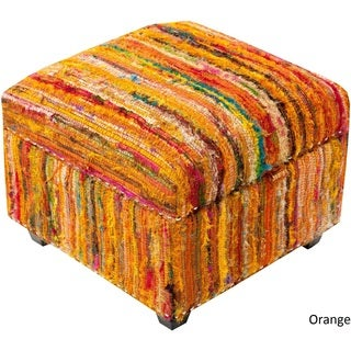 "Concord Striped Storage Ottoman (19 x 19"" x 14)"