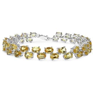 Malaika .925 Sterling Silver 19.78 Carat Genuine Citrine Bracelet