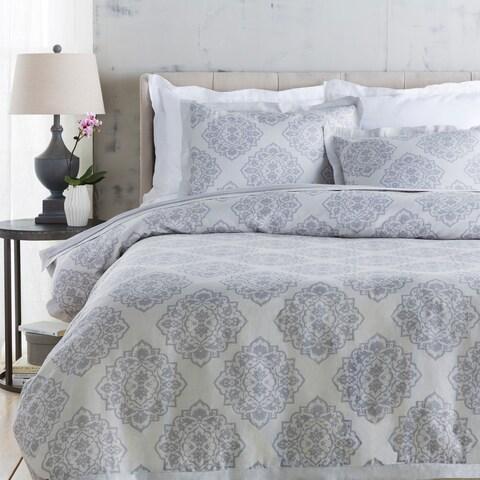 Sheena Floral Linen/ Cotton Duvet Cover Set