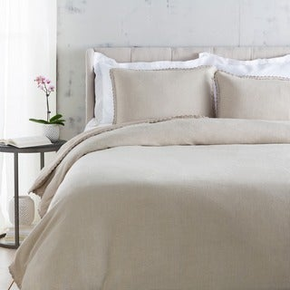 Sidney Solid Color Linen Duvet Cover Set