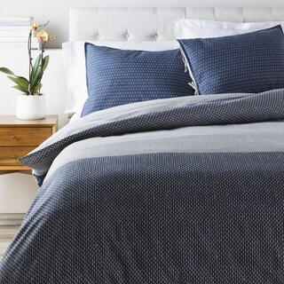 Brenda Dot Cotton/Flax Duvet Cover Set